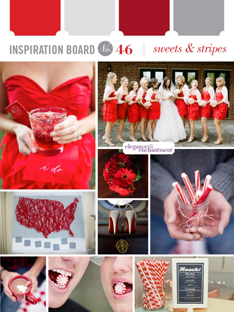 Inspiration board 46 - Sweets & Stripes