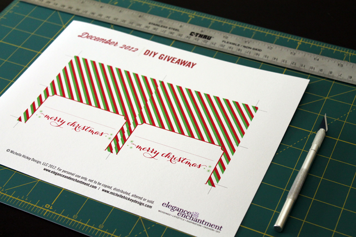 Holiday Place Cards Template from www.eleganceandenchantment.com