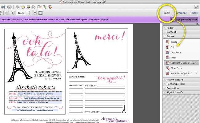 Bridal Shower Invitation Text Tutorial3