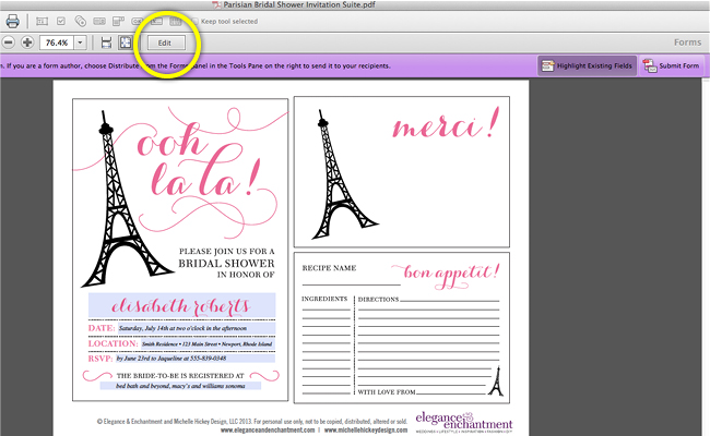Bridal Shower Invitation Text Tutorial7