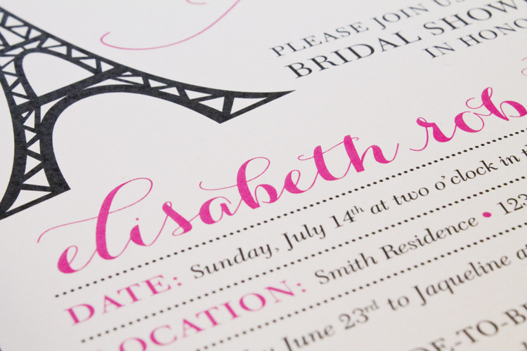 free printable paris themed bridal shower inviations