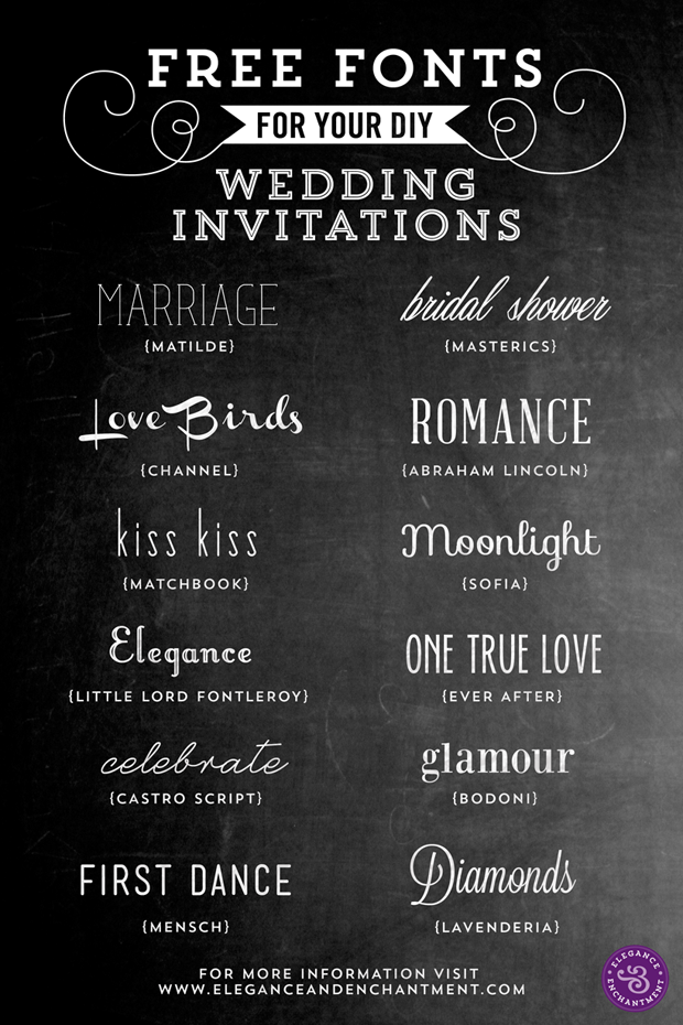 Wedding Invitation Fonts.Free Fonts For Diy Wedding Invitations