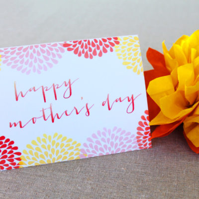 Mother's Day Card and Tag Printable