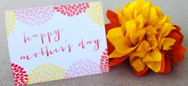 Mother's Day Card and Gift Tag Printable
