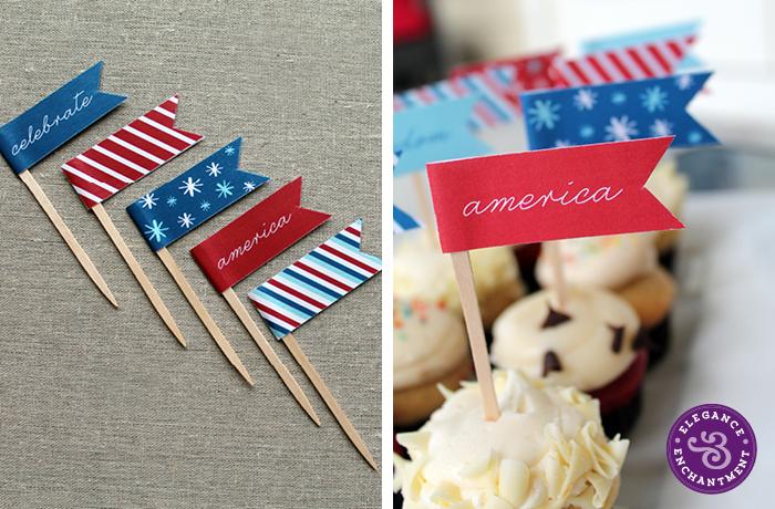 Patriotic Cupcake Flags2