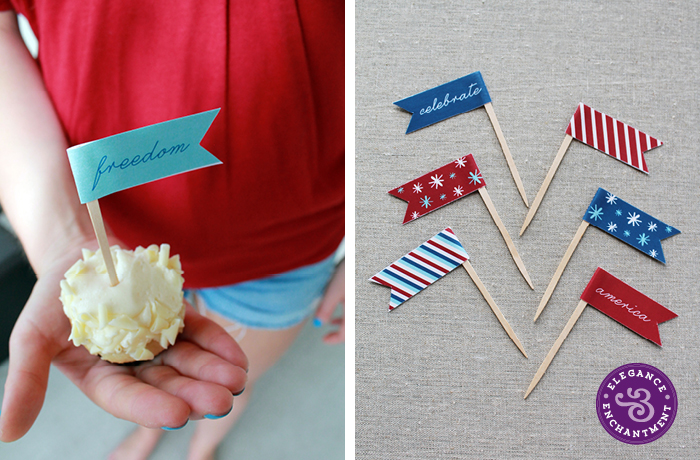 Patriotic Cupcake Flags4