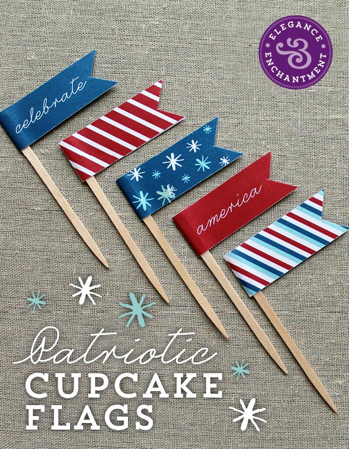 Patriotic Cupcake Flags6