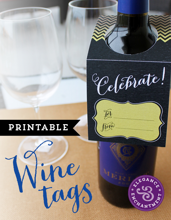 photo about Printable Wine Bottle Tags titled Printable Wine Tags