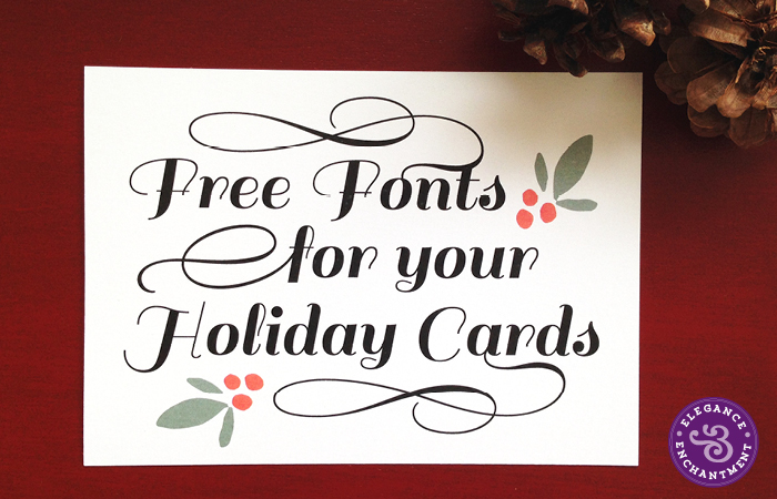 Elegance and Enchantment Free Holiday Fonts