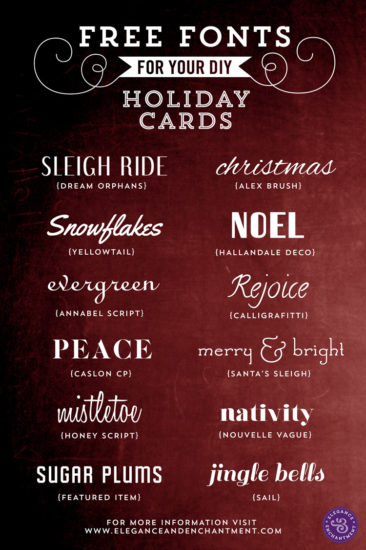 free fonts for your holiday cards - Holiday Pictures To Download