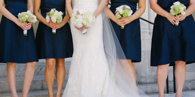 Classic Navy and Lilac Wedding