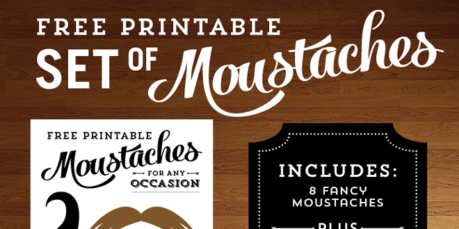 image about Printable Moustaches referred to as Free of charge Printable Moustaches