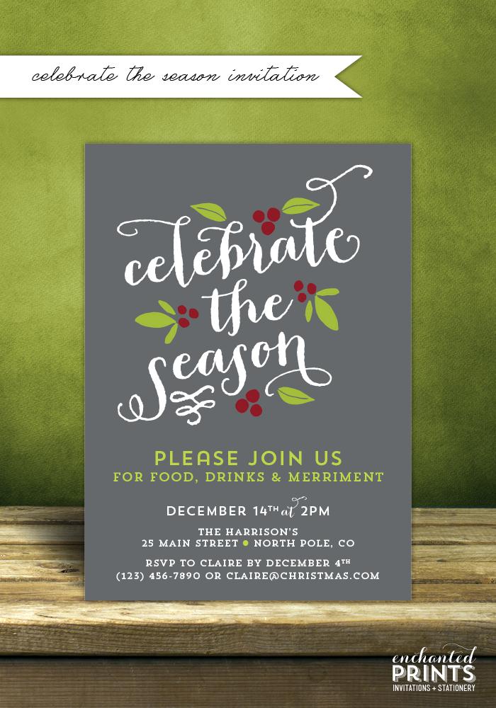 Holiday Invitation Showcase 2013