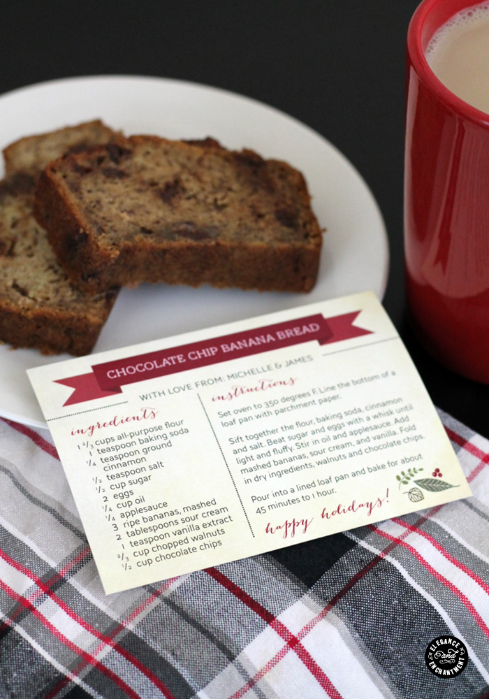 12 Days of Holiday Design: Day 6 - Recipe Cards