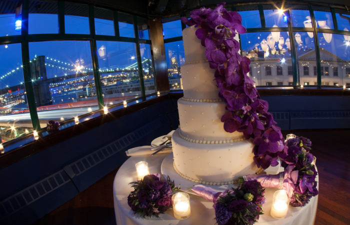 navy blue and purple wedding cakes navy and orchid nyc wedding 17759