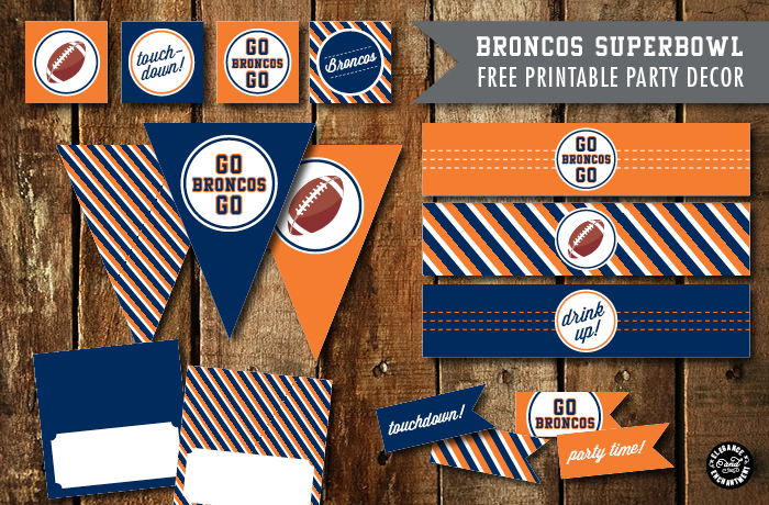 Elegance and Enchantment Football Collection Printables - Broncos