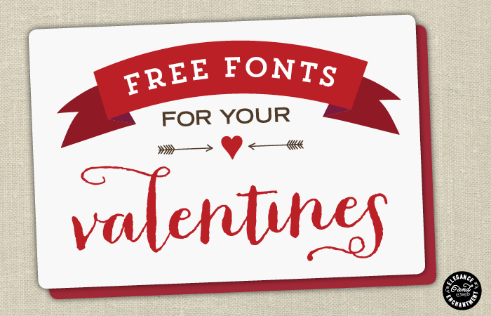 Elegance and Enchantment Free Valentines Fonts