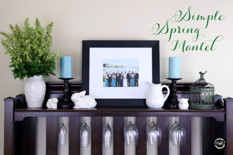 Elegance and Enchantment Spring Mantel