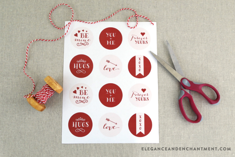 Free Printable Valentine's Day Stickers from Elegance and Enchantment