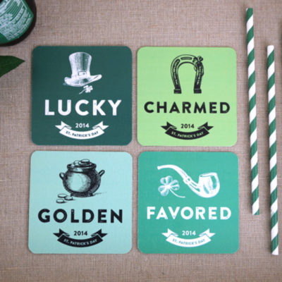 Free Printable St. Patrick's Day Coasters from Elegance and Enchantment