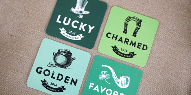Free Printable St. Patrick's Day Coasters