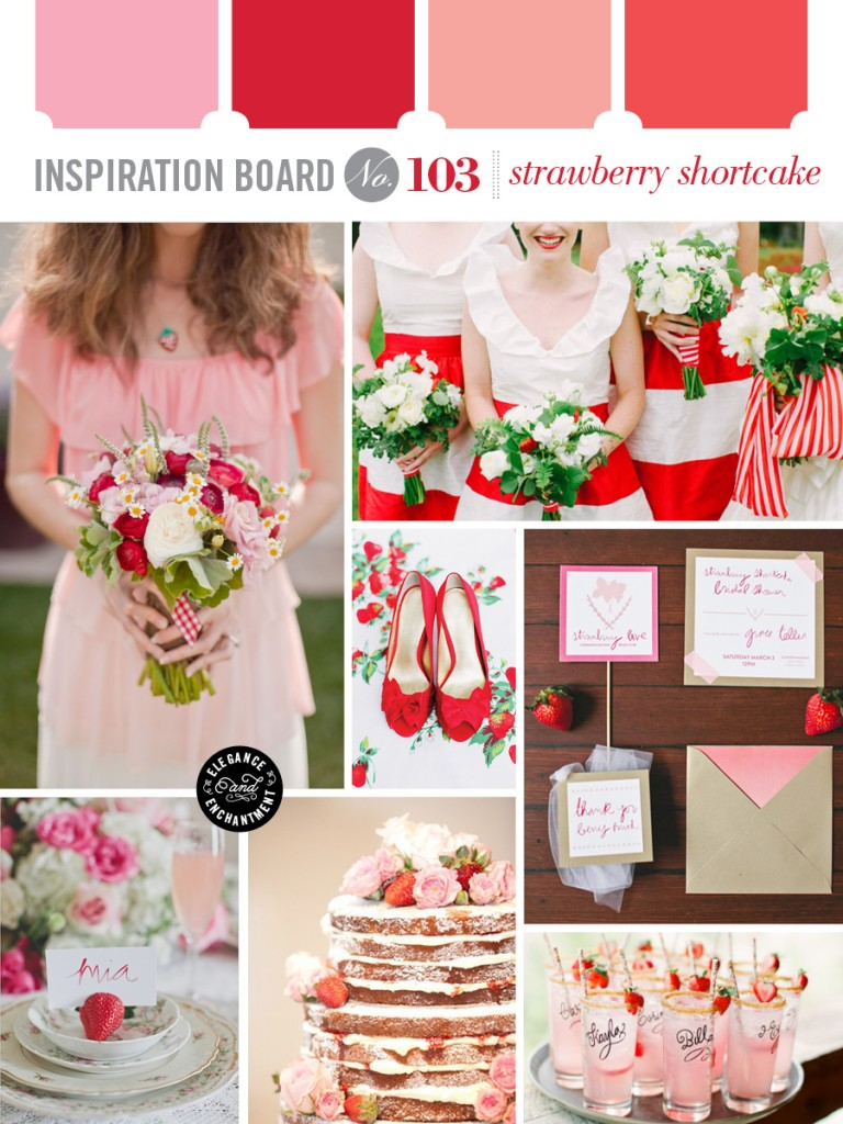 Strawberry Shortcake Wedding Inspiration