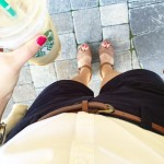 Perfect days in Florida call for short shorts, iced chai…