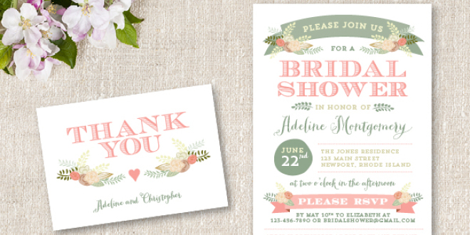 Bridal Shower Invitation - Flora