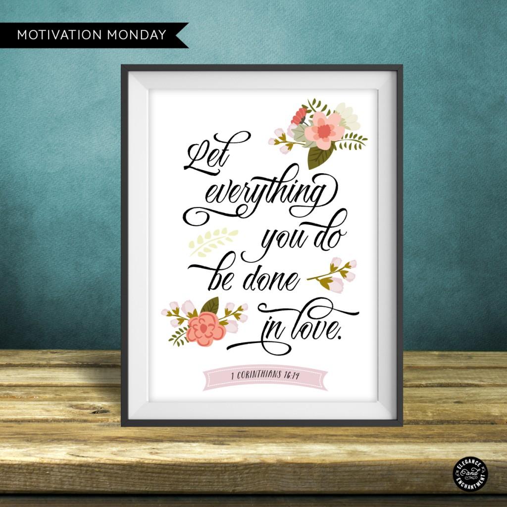 Corinthians 16:14 - Free Printable