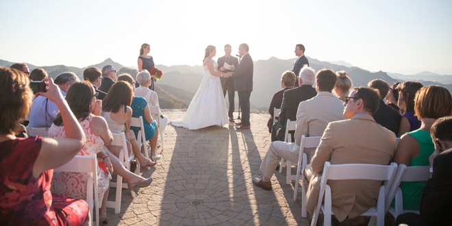 California Cliffs Wedding
