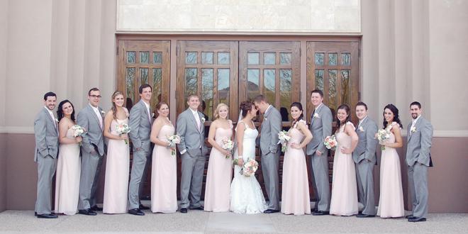 Blush and Lace Wedding