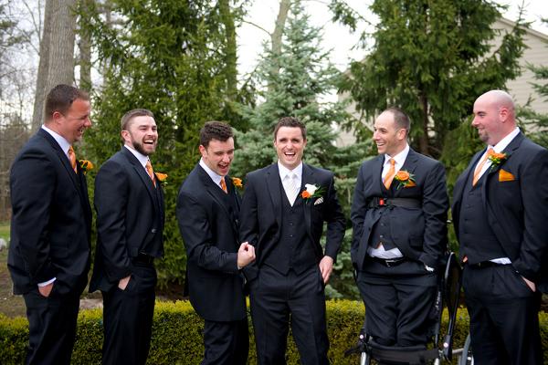 Pop of Orange Wedding