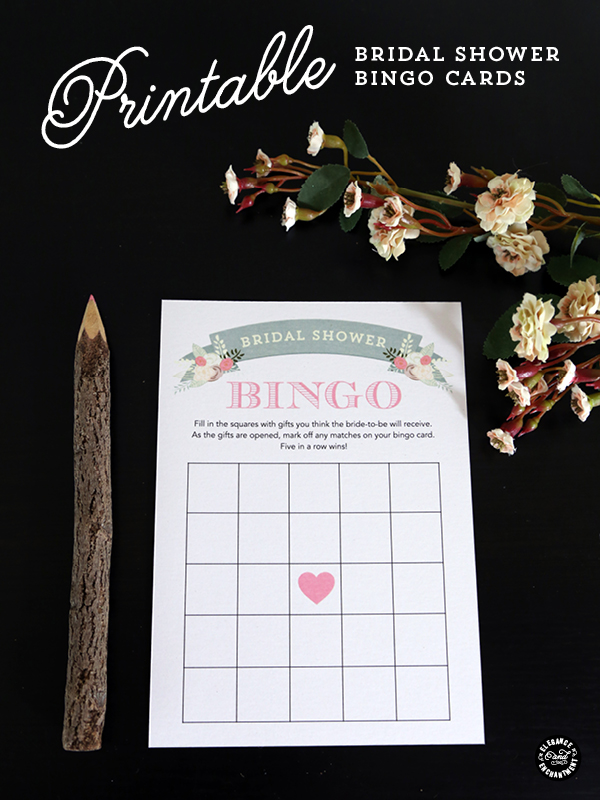 picture relating to Free Printable Bridal Shower Bingo titled Printable Bridal Shower Bingo Playing cards