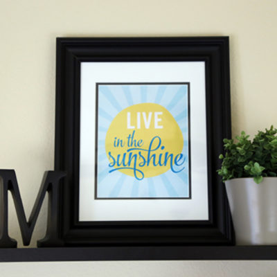 Free Summer Art Printable from Elegance and Enchantment