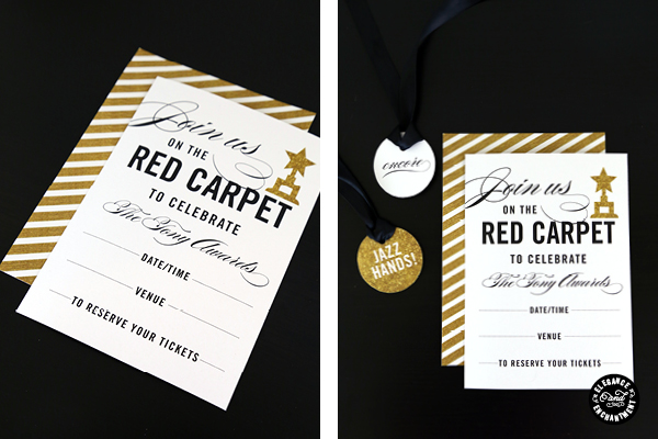 Red Carpet Party Printables