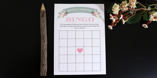 photo relating to Free Printable Bridal Shower Bingo named Printable Bridal Shower Bingo Playing cards