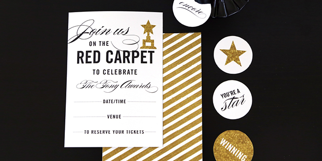 Printable Red Carpet Party Invitation