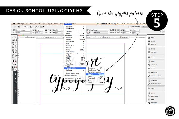How to create gorgeous typography using glyphs