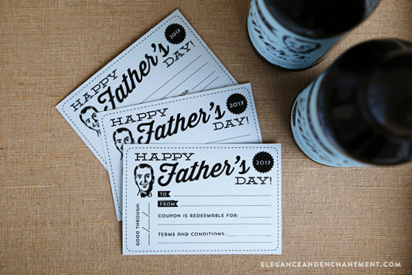 photo regarding Beer Coupons Printable titled Fathers Working day Printables - Playing cards, Labels and a Printable Coupon