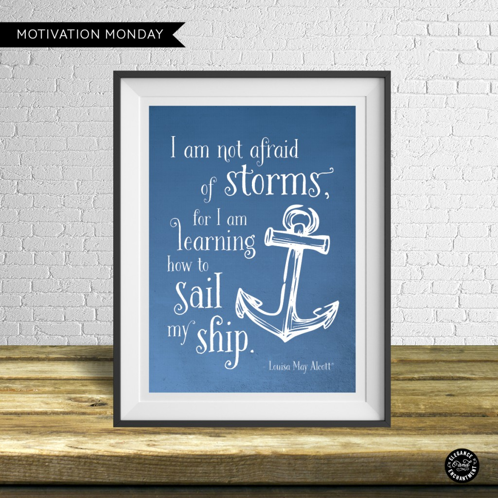 Motivation Monday - Louisa May Alcott Printable