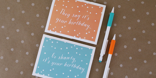 Birthday Card Printables