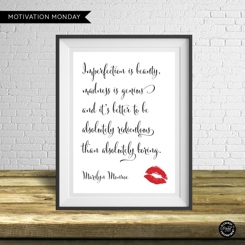 Motivation Monday – Free Printable – Marilyn Monroe