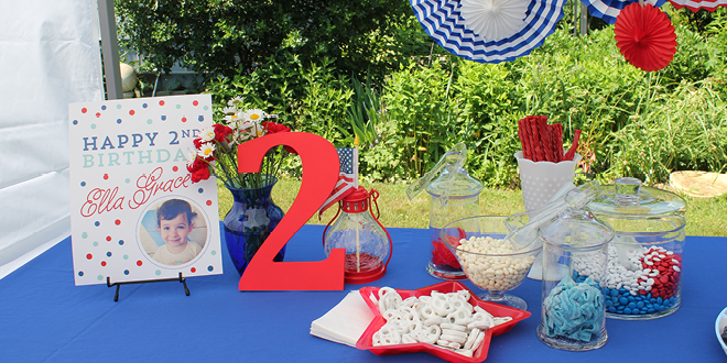 Red, White and Two Birthday Party