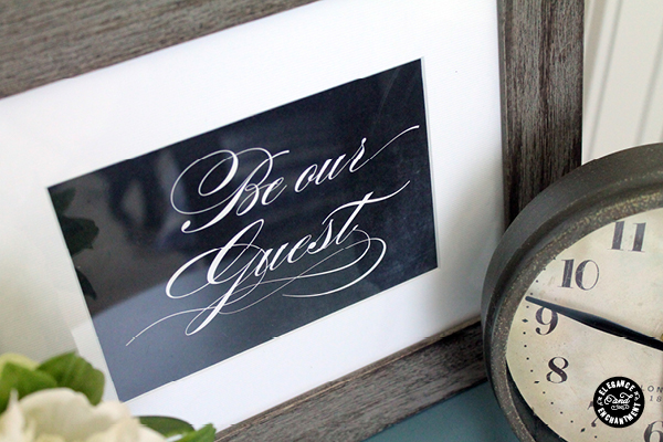 photograph relating to Be Our Guest Printable named Visitor House Printables