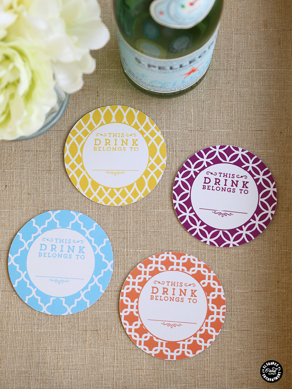 printable coasters and drink flags