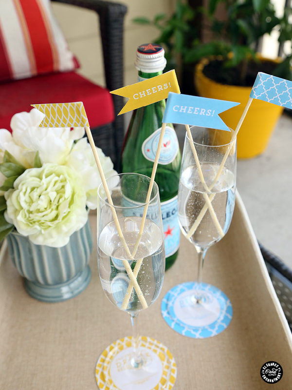 Elegance and Enchantment Printable Coasters and Party Flags