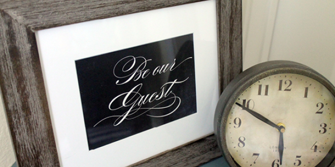 Be Our Guest Printable