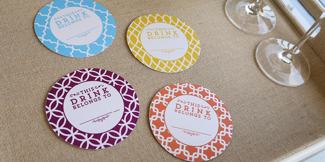 Printable Drink Flags and Coasters