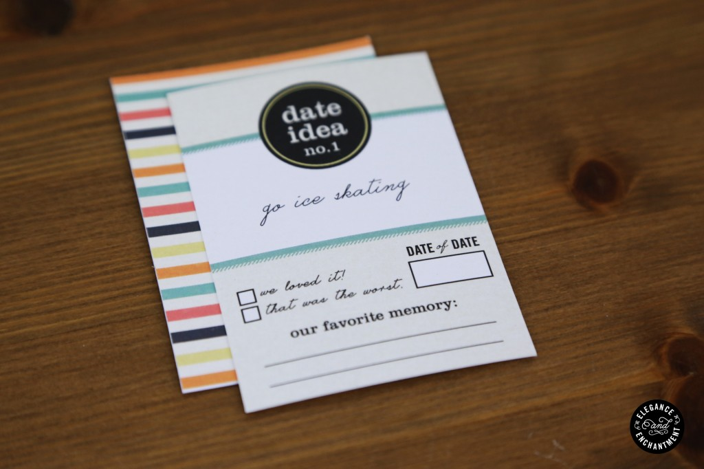 52 date night ideas printable cards gift box for Date night gift certificate templates
