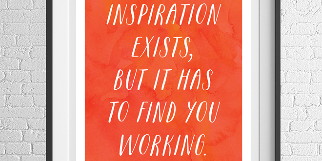 Motivation Monday - Free Art Printable - Inspiration is Real